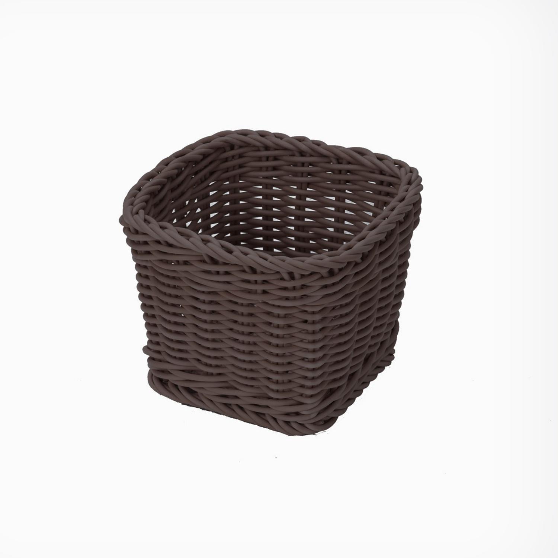 Košík na příbory hranatý tmavý