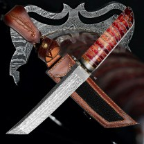 nůž TANTO Dellinger FEZÁ Randy Feather Damascus